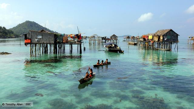 Sabah.  Malaysian Borneo.  Bajau Sea Gypsies.  Ocean Nomads.  Breath divers.  Malaysia. Pic: Copyright Timothy Allen. IT IS FORBIDDEN TO REPRODUCE THIS IMAGE IN ANY MEDIA WITHOUT WRITTEN PERMISSION. BBC Human Planet /m/loader/final_group_loader/Oceans Sab