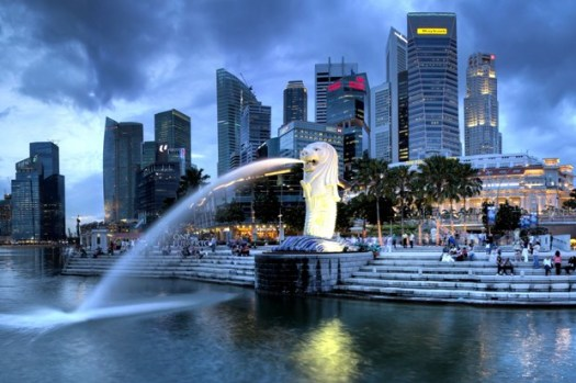 Try finding a photo of Singapore that doesn't include a skyscraper